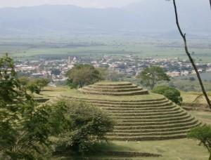 Guachimontones Mexiko arkeologiska platsen Jalisco städer av forntida civilisationer