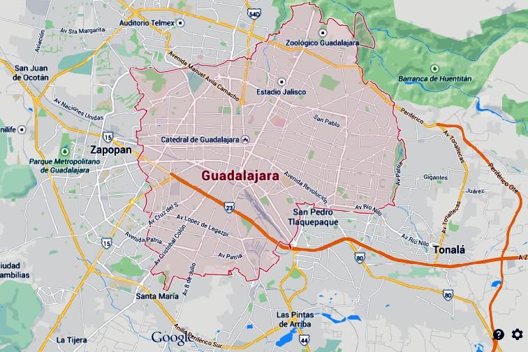 Guadalajara Mapa